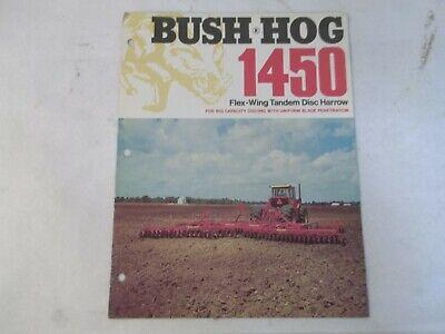 Bush Hog Model 1450 Flex Wing Tandem Disc Harrow Brochure