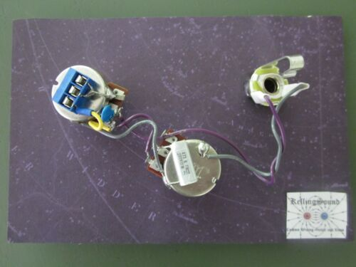 Solderless P Bass Harness .047 ITW Tone Cap Bourns Solid Shaft Pots KellingSound