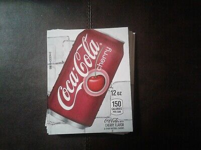 50royal Vendors Soda Vending Machine Pack Cherry Coke Labels Selection Tab