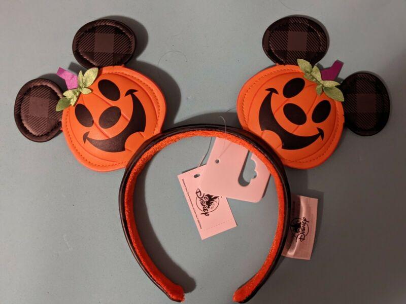 Disney Parks Halloween 2021 Jack o Lantern Pumpkin Ears Headband New
