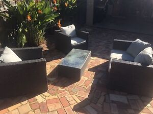 Wicker couch setting outdoor today's bargain Connolly Joondalup Area Preview