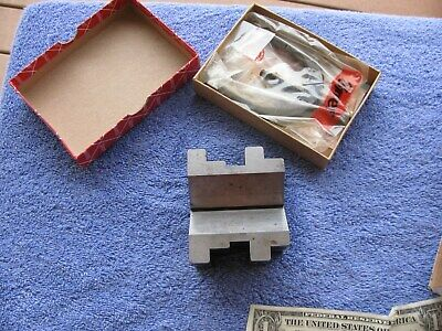 Starrett 568 V Vee Block Usa Machinist Toolmaker Tools With New Clamp