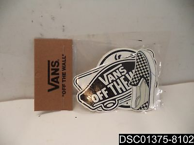 Qty= 6: MN Vans Sticker Pack, Assorted, VN0A3TO5ASRP, BJ06
