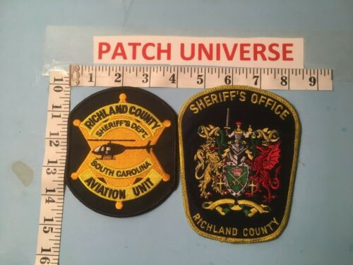 LOT OF 2 DIFFERENT RICHLAND COUNTY  SHOULDER PATCHES  P067