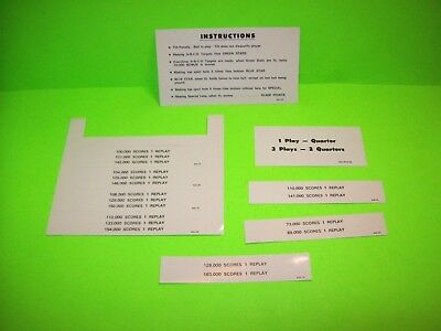 Williams TRIPLE STRIKE Original Arcade Pinball Machine Instruction / Score Cards