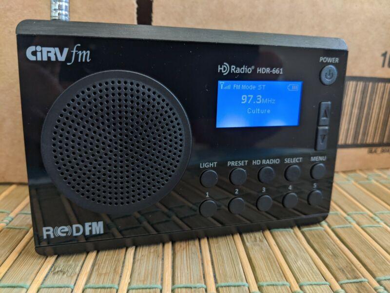 Portable HD+FM Digital Radio Model HDR-661-Black-Working Read Plz