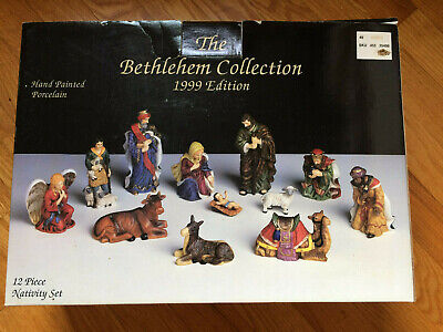 The Bethlehem Collection 1999 NATIVITY Set - Hand Painted Porcelain - Beautiful
