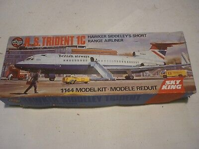 Airfix un made plastic kit of a Hawker Siddeley H.S Trident 1C, Boxed