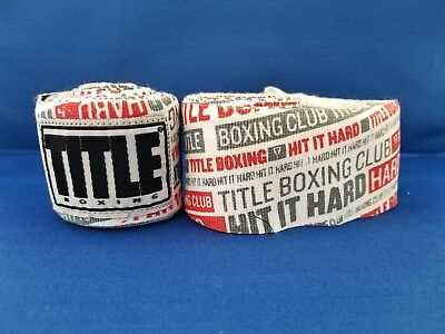 "TITLE Boxing Select 180"" Long Elastic Mexican Hand Wraps HHR"