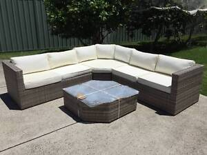 Outdoor Wicker Rattan Sofa Set & Coffee Table BRAND NEW Padstow Bankstown Area Preview