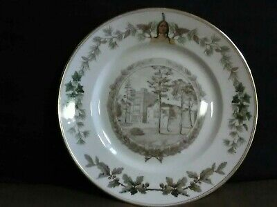 Vtg. Ivory Lamberton China Scammell Springfield College