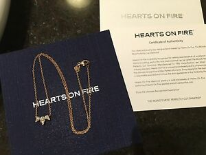 $3780 HEARTS ON FIRE DIAMOND NECKLACE 18K ROSE GOLD,NEW+CERT Glen Waverley Monash Area Preview