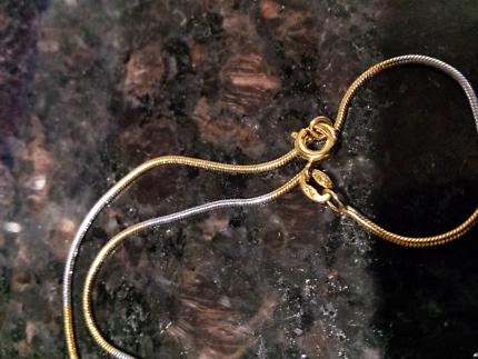 Solid 18k hallmarked 750 necklace