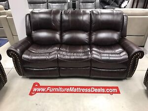 New3Pce Leather5reclining couch sofa,LoveSeat, rocker chair3595