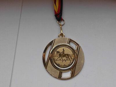 Reiten Medaillen 50mm Deutschland-Bändern Pokal Turnier Emblem Dressur Reitsport