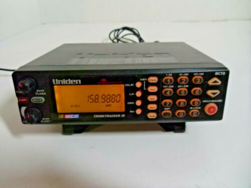 Uniden Bearcat BCT8 Warning System 800 MHz TrunkTracker III NASCAR Scanner