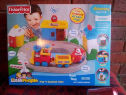 Fisher-Price World of Little People Pop and Surprise Train NEW