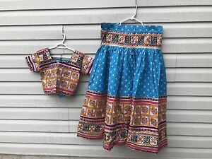 Indian/Gujarati/Rajasthani long skirt and crop top