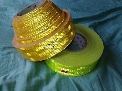 Hi Vis Fluorescent Tape Reflective Tape Vinyl Roll Self-adhesive Metre Lengths