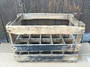 ancien casier de 15 bouteilles en bois vin vieux bistrot french antique box ebay. Black Bedroom Furniture Sets. Home Design Ideas