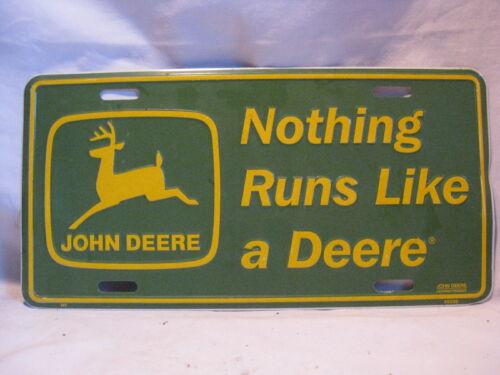 Nothing Runs Like a Deere licensed product JOHN DEERE license plate JD metal