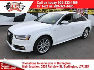 2015 Audi A4 Progressiv Plus, Nav, Leather, Sunroof, AWD