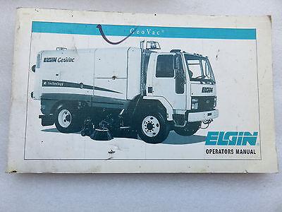 New Elgin Street Sweeper Geovac Operators Manual Oem Factory