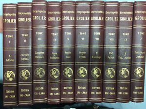 ENCYCLOPÉDIE GROLIER 10 Volumes 1952