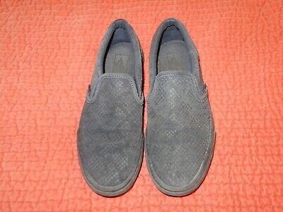 Vans Ultra Cush Blue Suede Snake Skin Embossed Shoes Slip On Sneakers Sz 7.5 / 9