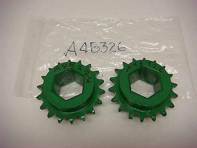 2 Vintage John Deere New Old Stock Part A48326 Sprockets 2 Nos Tractor Chain