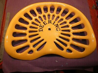 2nd Deering Vintage Cast Iron Tractor Farm Implement Seat Antique Collectibles