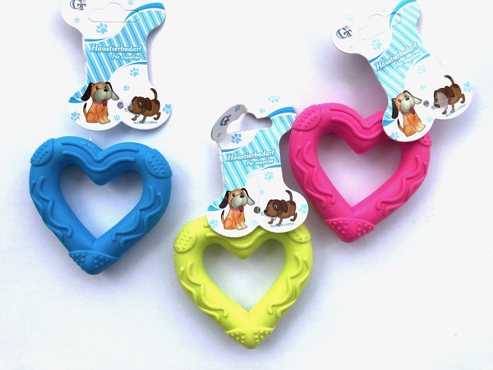 Hundespielzeug 7cm Haustier Spielzeug: Katzen Herz