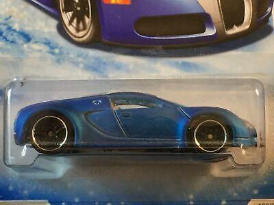 Hot Wheels Bugatti Veyron Matte Blue RARE Snowflake Variation