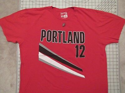 Adidas BLAZERS 12 Aldridge T-SHIRT Mens XXL Portland Basketball LaMarcus PDX 2X