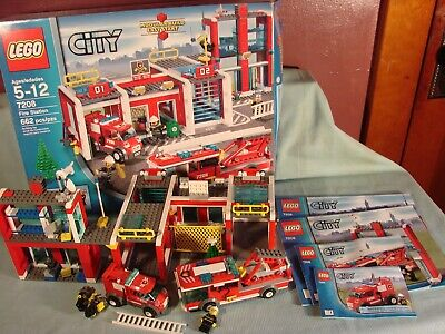 Vintage Lego City Set 7208, Fire Station, 99% Complete In Box 662 Pieces