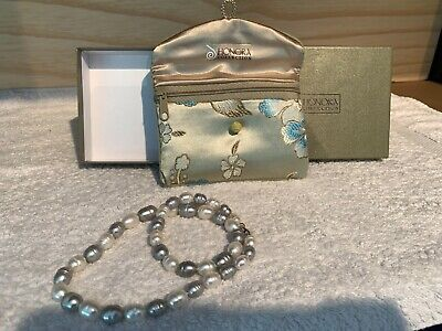 HONORA PEARL NECKLACE PINK & SILVER