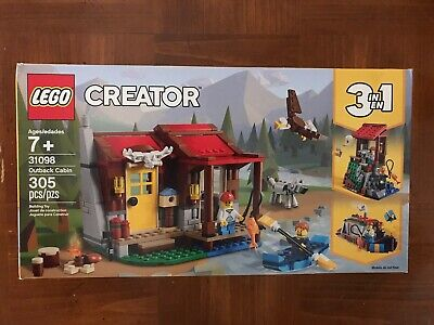 New Lego Creator Outback Cabin 3 In 1 305-Piece 31098 7+ Building Toy