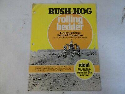 Bush Hog One Two Four Six Eight Row Rolling Bedders Brochure