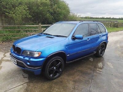 E53 BMW X5 46is BREAKING   ESTORIL BLUE  44i 30i 46is ALL PARTS AVAILABLE