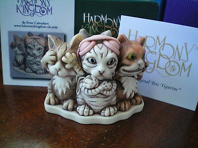 Harmony Kingdom Feline Evil Cats UK Made Marble Resin Box Figurine SGN NEW