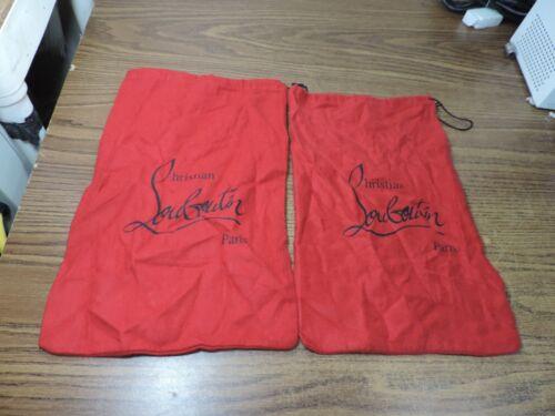 "christian louboutin Shoe purse Dust bag 14 x9"" Pair"