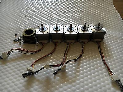5 X Stepper Motors Nema 17 51ozin Cnc Router Robot Reprap Makerbot Prusa I3 Gld