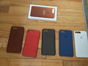 iPhone 8 Plus and 7 plus original leather and silicone case