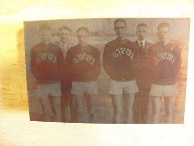 University Of Iowa Mile Relay Team 1923 - Historic Iowa Printing Press Block