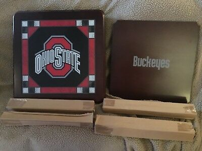 Ohio State Buckeyes Stained Glass - Danbury Mint The Ohio State Buckeyes Stained Glass Harwood End Table