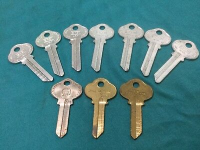 Sargent By Curtis National S16 S31 Keyway Key Blanks Set Of 10 - Locksmith