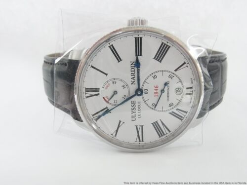 Ulysse Nardin Marine Torpilleur White Dial Automatic Watch 1183-310-3/40 $6900 - watch picture 1