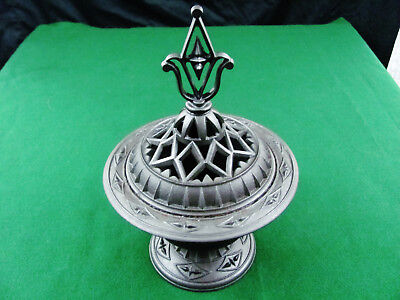 1850S American Fancy Cast Iron Stove Top Vaporizer Medical Aromatherapy Rare