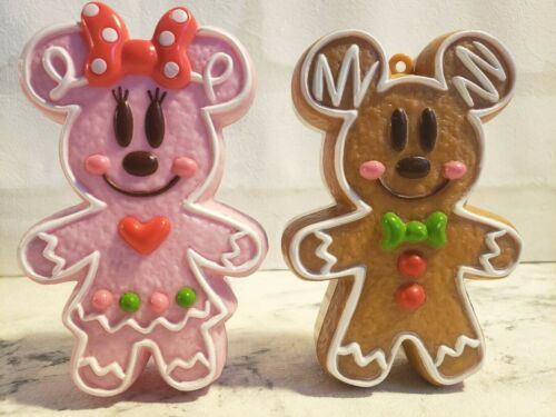 TOKYO Disney Resort  GingerBread Ornament Mickey&Minnie Set 2 candy Case Ginger