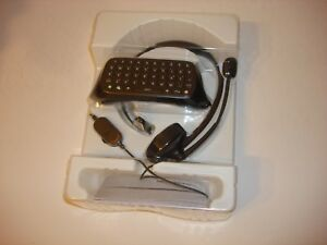OEM MICROSOFT XBOX 360 CHATPAD KEYBOARD + HEAD SET NEW